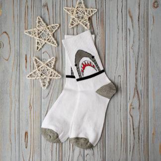 носки белые акула