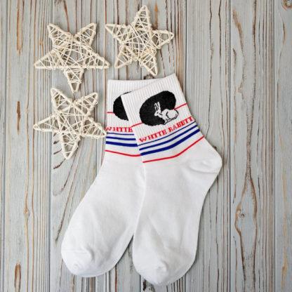 носки белые белый кролик