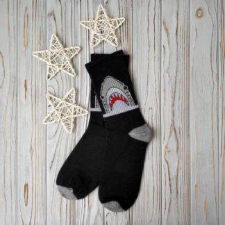 носки черные акула
