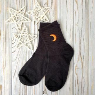 носки черные луна