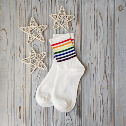 носки белые радуга
