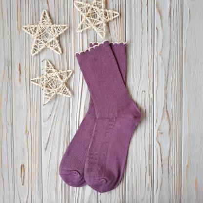 носки фиолетовые с фестонами