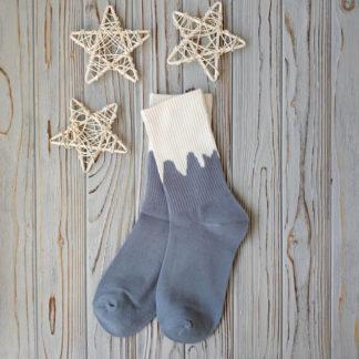 носки голубые с белым верхом