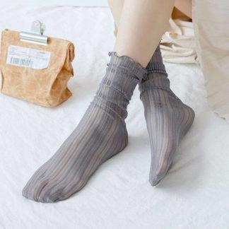 носки серые ажурные